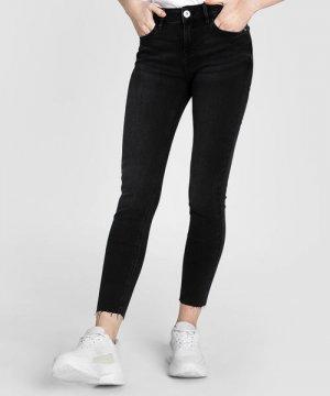 Укороченные суперузкие джинсы O`Stin. Цвет: черный