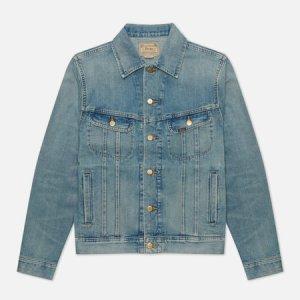 Мужская джинсовая куртка Storm Rider Trucker Denim Polo Ralph Lauren. Цвет: синий