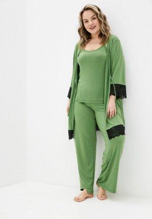 Халат и пижама Артесса. Цвет: зеленый