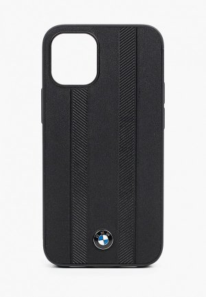 Чехол для iPhone BMW 12 mini (5.4), Signature Genuine leather Tire marks Black. Цвет: черный