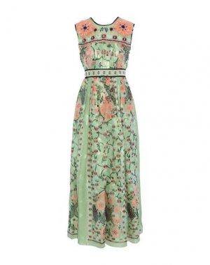 Длинное платье ANNA SUI. Цвет: зеленый
