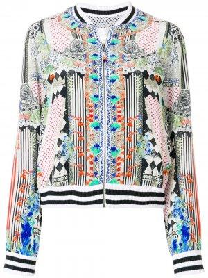 Куртка-бомбер с абстрактным принтом Camilla. Цвет: разноцветный