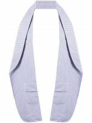 Полосатый жилет без спинки Comme Des Garçons Shirt. Цвет: синий