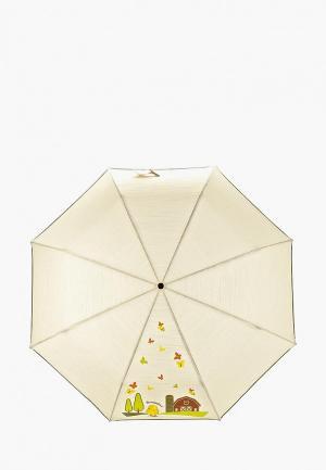 Зонт складной Braccialini. Цвет: хаки