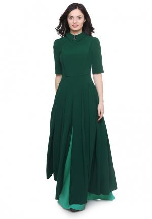 Платье Grey Cat YARMINA. Цвет: зеленый