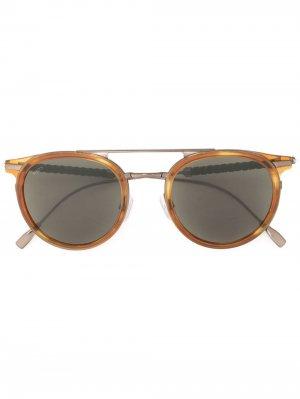 Tods затемненные солнцезащитные очки в круглой оправе Tod's. Цвет: коричневый