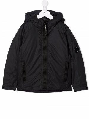 Padded rain jacket C.P. Company Kids. Цвет: черный