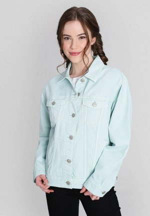 Куртка джинсовая Ostin O'stin. Цвет: бирюзовый