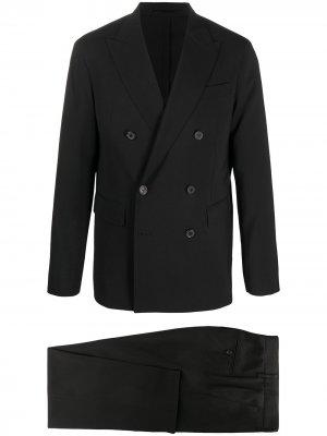 Костюм-двойка с двубортным пиджаком Dsquared2. Цвет: черный