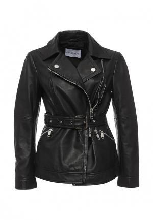 Куртка кожаная MAX&Co. Цвет: черный