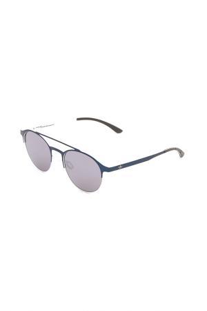Очки солнцезащитные с линзами adidas. Цвет: 025 000 синий, белый