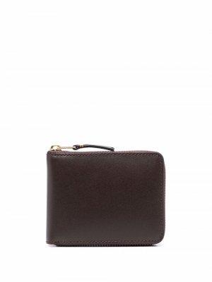 Кошелек из зернистой кожи Comme Des Garçons Wallet. Цвет: коричневый