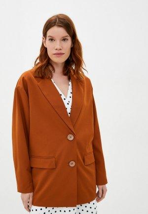 Пиджак Bezko. Цвет: коричневый