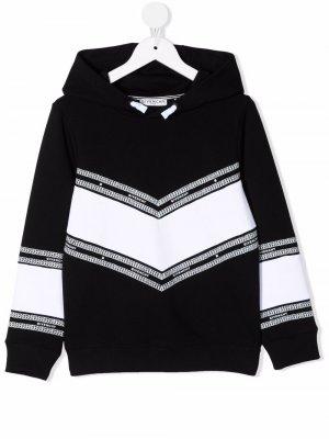 Logo-trim hoodie Givenchy Kids. Цвет: черный