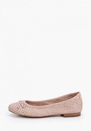 Балетки Caprice. Цвет: розовый