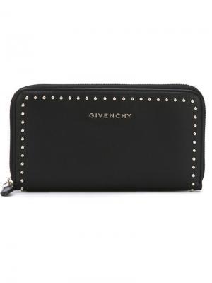 Кошельки и визитницы Givenchy. Цвет: чёрный