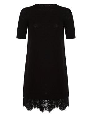 Платье D315Q308HMA 42 черный ERMANNO SCERVINO. Цвет: черный