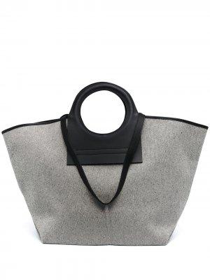 Большая сумка-тоут Cala Hereu. Цвет: нейтральные цвета