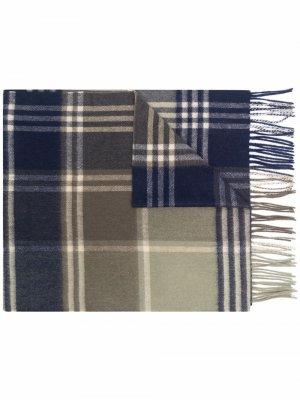 Tartan check scarf Barbour. Цвет: зеленый