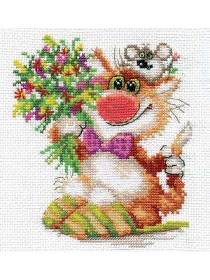 Набор для вышивания Спешим поздравить!  13х15 см. Алиса. Цвет: желтый, зеленый, рыжий