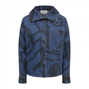 Джинсовая рубашка Kenzo. Цвет: синий