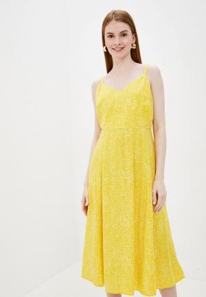 Сарафан Gap. Цвет: желтый