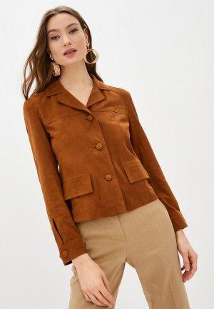 Куртка кожаная Seventy. Цвет: коричневый