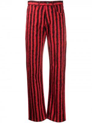 Прямые джинсы в полоску Kenzo. Цвет: красный