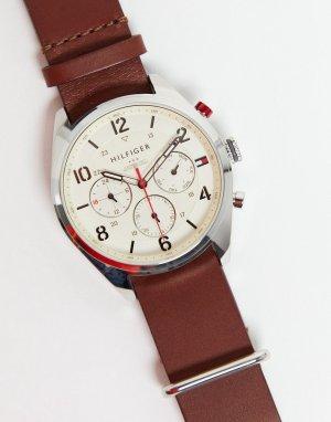 Часы с коричневым ремешком Corbin-Коричневый цвет Tommy Hilfiger