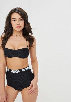 Лиф Moschino Swim Woman. Цвет: черный