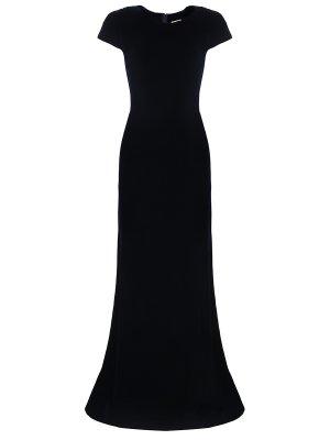 Платье в пол вечернее ALAIA. Цвет: синий