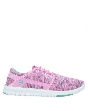 Низкие кеды и кроссовки ETNIES. Цвет: розовый