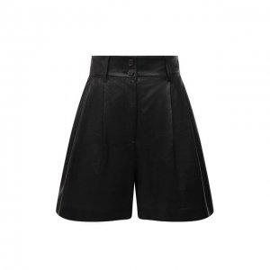 Кожаные шорты Dolce & Gabbana. Цвет: чёрный