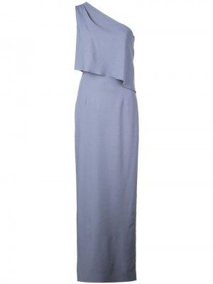 Длинное платье на одно плечо Amsale