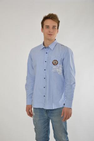 Рубашка Galvanni. Цвет: голубой
