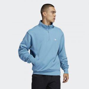 Свитшот Heavyweight Shmoofoil 1/4 Originals adidas. Цвет: белый