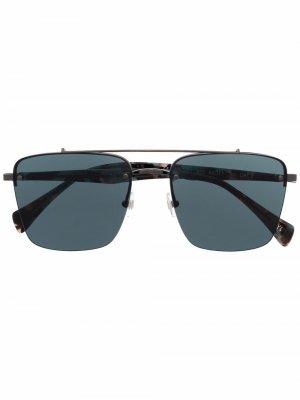 Солнцезащитные очки в массивной оправе Yohji Yamamoto. Цвет: черный