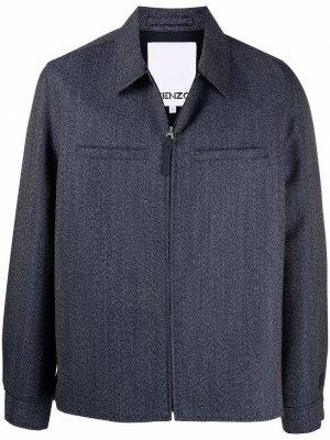 Куртка на молнии Kenzo. Цвет: синий