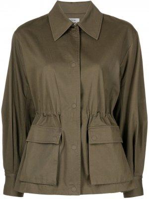 Куртка-рубашка со складками Jason Wu. Цвет: зеленый