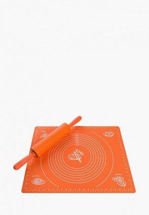 Набор кухонных инструментов Elan Gallery. Цвет: оранжевый
