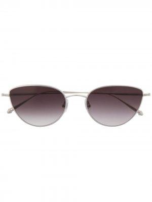 Солнцезащитные очки в оправе кошачий глаз Matsuda. Цвет: серебристый