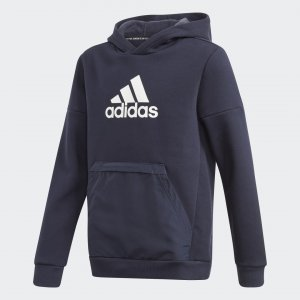 Флисовая худи Badge of Sport Performance adidas. Цвет: белый