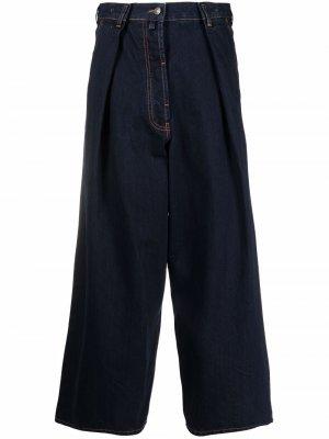 Широкие джинсы 2000-х годов Dries Van Noten Pre-Owned. Цвет: синий
