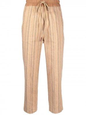 Прямые брюки в полоску Alysi. Цвет: оранжевый
