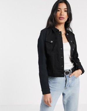 Черная джинсовая куртка -Черный Vero Moda