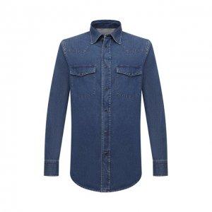 Джинсовая рубашка Brioni. Цвет: синий