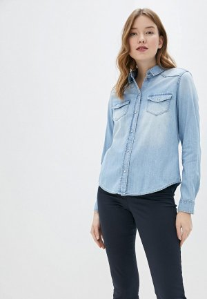 Рубашка джинсовая Taifun. Цвет: голубой