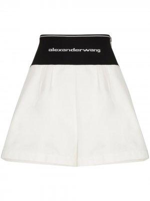 Спортивные шорты с логотипом на поясе Alexander Wang. Цвет: белый