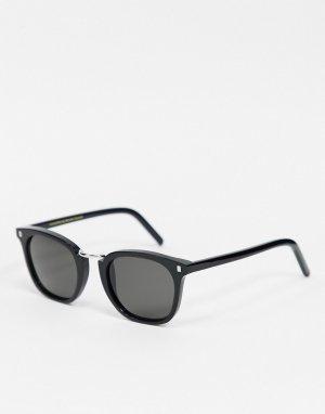 Квадратные солнцезащитные очки унисекс в черной оправе Ando-Мульти Monokel Eyewear