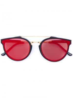 Солнцезащитные очки с круглой оправой Retrosuperfuture. Цвет: черный